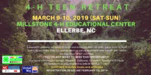 Cover photo for 4-H Teen Retreat for Teens (Ages 13-19)